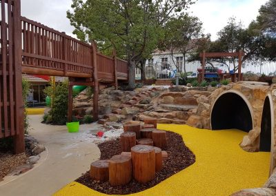 The purpose of the works is to allow immediate accessibility for the Pre Primary children to their amazing outdoor learning environment.