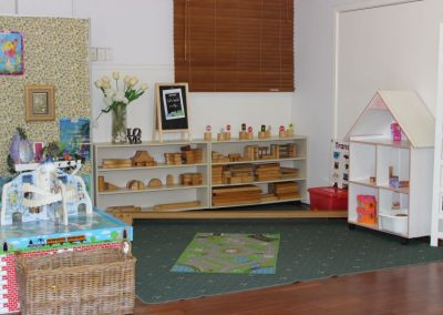 Our Kindy and Pre Kindy classroom set up for action within the School Hall.